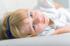 Beautiful blue eyed girl Stock Photos