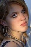 Beautiful Blue Eyed Intensity Royalty Free Stock Image