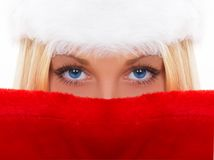 Beautiful blue eyes. The nice girl with a gentle sight Royalty Free Stock Photography