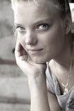 Beautiful blue eyes Stock Image
