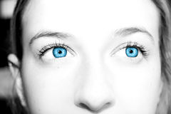 Beautiful  blue eyes Royalty Free Stock Photos