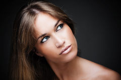 Beautiful blue eyes woman portrait Royalty Free Stock Photo