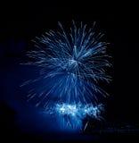 Beautiful blue firework Stock Image