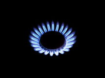 Beautiful blue flame natural gas Royalty Free Stock Photos