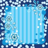 Beautiful blue floral background. With place for text Royalty Free Stock Images