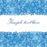 Beautiful blue floral frame Stock Photos
