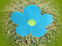 Flower made from blue paper, Lithuania Royalty Free Stock Photography