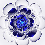 Beautiful blue flower on white background. Computer generated gr Royalty Free Stock Photo