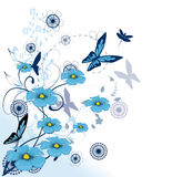 Beautiful blue flowers Stock Photography