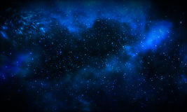 Beautiful blue galaxy background Royalty Free Stock Image
