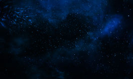 Beautiful blue galaxy background Royalty Free Stock Photography