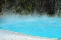 Beautiful blue geothermal lake Royalty Free Stock Images