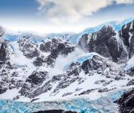 Beautiful blue glacier. Glacier in Torres del Paine National Park, Chile Stock Image