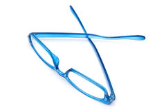 Beautiful blue glasses Stock Images