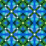 Beautiful blue green abstract texture. Complex background illustration. Textile print pattern. Cute seamless tile. Home decor fabr royalty free illustration