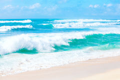 Beautiful blue and green ocean waters and waves of Hawaii Stock Image