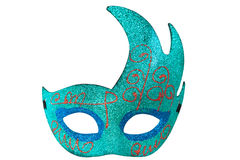 Blue Half Moon Shape Fantasy Mask Stock Photo