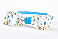 Beautiful blue head band with bow. Stock Image