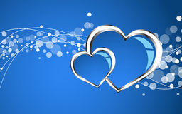 Beautiful blue heart background Stock Photos