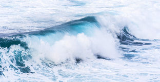 Beautiful blue high waves Stock Images