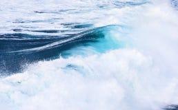 Beautiful blue high waves Royalty Free Stock Photo