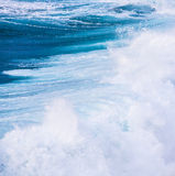 Beautiful blue high waves Royalty Free Stock Photos