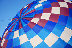 Beautiful Blue Hot Air Balloon Inflating Royalty Free Stock Photos