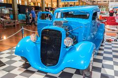 Beautiful blue hot rod car. At Victorian Hot Rod & Cool Rides Show in Melbourne, Australia Royalty Free Stock Photos