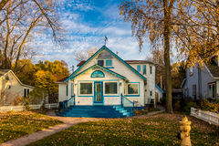 Beautiful blue house in Toronto Islands - Toronto, Ontario, Canada