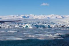Beautiful blue ice lagoon Stock Images