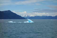 A beautiful blue iceberg in the ocean. Royalty Free Stock Photos