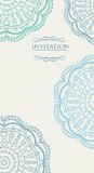 Beautiful blue invitation card  Stock Photography