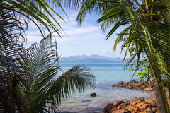 Beautiful blue islands in thailand Stock Photography