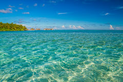 Beautiful blue lagoon beach, Maldives Royalty Free Stock Photography