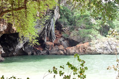 Beautiful blue lagoon at Phra Nang Beach (Krabi, Thailand) Royalty Free Stock Photo