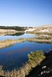 Beautiful blue lake. Lanscape with beautiful blue lake Stock Photos
