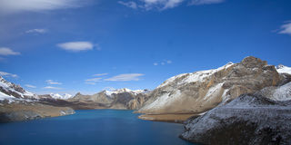 Beautiful blue lake in high altitude Stock Photography