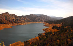 Beautiful blue lake in the mountains of California. Stock Photos