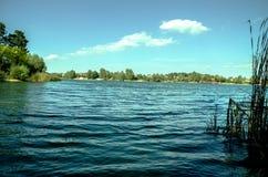 Beautiful blue lake Royalty Free Stock Images