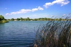 Beautiful blue lake Royalty Free Stock Photos