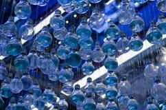 Beautiful Blue Light Bulbs Stock Images