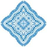 Beautiful blue mandala. Stock Photos