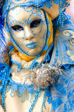 Beautiful blue mask in Venice, Italy. royalty free stock photos