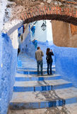 Beautiful blue medina of Chefchaouen city in Morocco, Africa Royalty Free Stock Photo