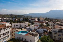 Beautiful blue medina of Chefchaouen city in Morocco, Africa. Royalty Free Stock Photo
