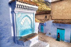 Beautiful blue medina of Chefchaouen in Morocco Stock Photography