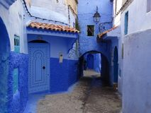 Chefchaouen, blue city of Morocco Stock Image