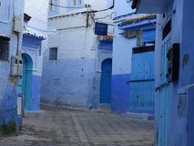 Chefchaouen, blue city of Morocco stock photo