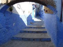 Chefchaouen, blue city of Morocco royalty free stock images