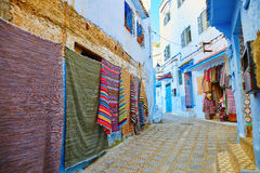 Beautiful blue medina of Chefchaouen, Morocco Royalty Free Stock Images